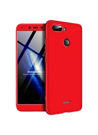 Microsonic Xiaomi Redmi 6 Kılıf Double Dip 360 Protective  Kırmızı